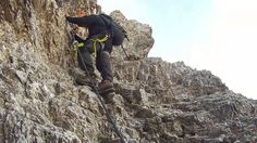 """Hiking and climbing """"il Centenario"""" in Italy"""