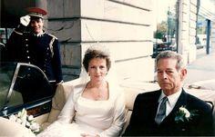 King Michael of Romania and his daughter and heir, Princess Margarita of Romania - Margarita's wedding 1996.