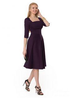 Платье Onice 1-298 из атласа, фиолетовый