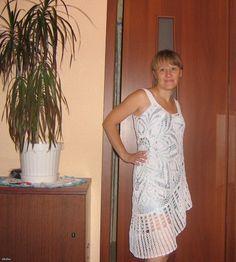 Vestido de la servilleta (trapos con base de gala). | Magia spider +