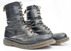 Black 10 Eyelet English Made 1490 Doc Martens US 13 UK 12 Japan 30 Euro 47 . Standard issue Docs, the good English made ones, not the sadly made Chinese rubbish.