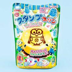 Minions DIY Candy Pudding - Banana Flavor Japanese Grocery, Japanese Snacks, Japanese Candy, Japanese Sweets, Kawaii Gifts, New Fruit, Kawaii Shop, Candy Store, Mold Making