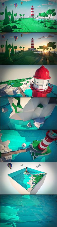 low poly beacon …