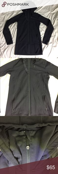 Lululemon Scuba Hoodie perfect condition, size 4, tags have been cut off, color is black lululemon athletica Jackets & Coats