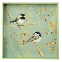 "Chickadee 15"" Square Tray"
