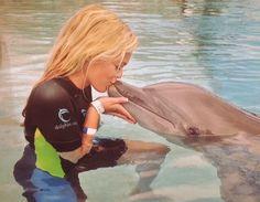 my happiest moment☼☼  @ Dolphin Cay Atlantis Bahamas