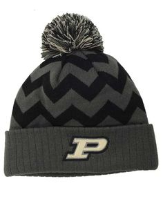 d47ebf44055 Top of the World Purdue Boilermakers Chevron Pom Knit Hat Knit Hat For Men