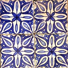 Blue and white tile in concrete from Marrakech Design, Sweden www.marrakechdesign.se