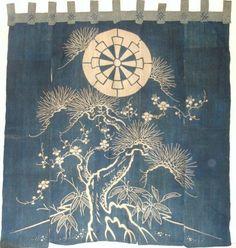 awesome dharma wheel noren