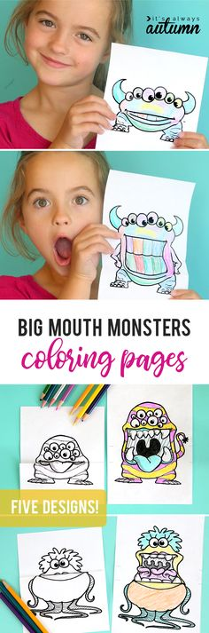 surprise big mouth shark printable ferocious beings paper project basteln mit 7222