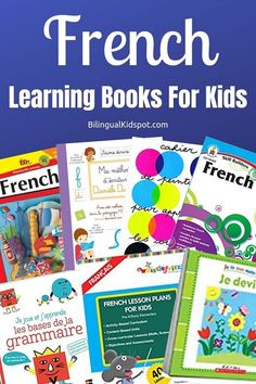 A list of the best French language learning books for kids including activity books for young kids and books with a curriculum for older children. French Language Lessons, French Lessons, Spanish Lessons, French Class, Spanish Language, French Learning Books, Teaching French, Learning Spanish, How To Speak French