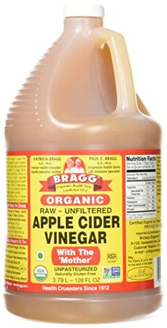 Bragg Organic Raw Apple Cider Vinegar 128 Ounce - 1 Pack for sale online Apple Cider Vinegar Remedies, Unfiltered Apple Cider Vinegar, Apple Cider Vinegar Benefits, Apple Cider Vinegar Detox, Organic Apple Cider Vinegar, Vinegar Cleanse, Apple Benefits, Vinegar With The Mother, Natural Colon Cleanse