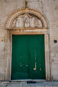 Door in Trogir, Croatia