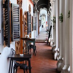A charming corridor in Penang, #Malaysia. Photo courtesy of echoinghope on Instagram.