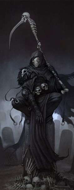 New gothic wallpaper dark fantasy grim reaper ideas wallpaper stefan koidl continues to create spooky illustrations and you shouldnt click if youre easily frightened Arte Horror, Horror Art, Dark Fantasy Art, Dark Art, Angels And Demons, Airbrush Art, Skull Art, Crow Skull, Mythical Creatures