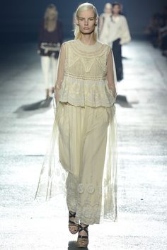 ed5c6124fa Embroiery on super sheer base. Dries Van Noten Spring 2014 Ready-to-Wear