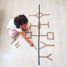 Stem For Kids, Math For Kids, Fun Math, Montessori Activities, Stem Activities, Activities For Kids, Math Teacher, Teaching Math, Symmetry Art