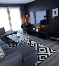 160 cozy small living room decor ideas for your apartment page 22 Classy Living Room, Living Room Decor Cozy, Rugs In Living Room, Interior Design Living Room, Home And Living, Living Room Designs, Masculine Living Rooms, Small Living Rooms, Room Rugs
