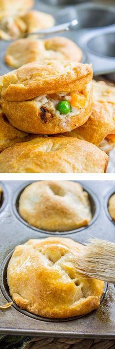 Mini Chicken Pot Pies in Muffin Tins