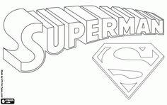 Superman logo coloring page