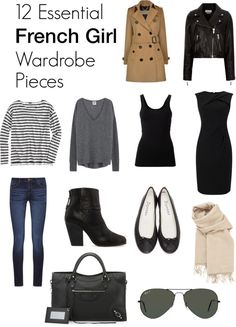 12 Essential French Girl Wardrobe Pieces - www.Xperimentsinliving.com