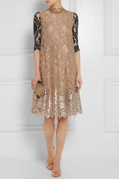 BIYAN Amara embellished metallic lace dress $4,640 Biyan's French lace dress showcases the brand's impeccable attention to detail. Adorned with clusters of beads and crystals, this design features an organza underlay and an additional silk slip - they ensure the perfect amount of coverage without compromising on the weightless feel. Wear yours with and minimal accessories. Shown here with: Monica Vinader ring, Gianvito Rossi shoes, Bottega Veneta clutch.