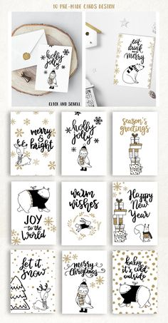 christmas wishes Warm Wishes greeting collection - Illustrations - 2 Christmas Doodles, Christmas Drawing, Diy Christmas Cards, Christmas Wishes, Xmas Cards, Christmas Projects, Diy Cards, Holiday Cards, Christmas Decorations