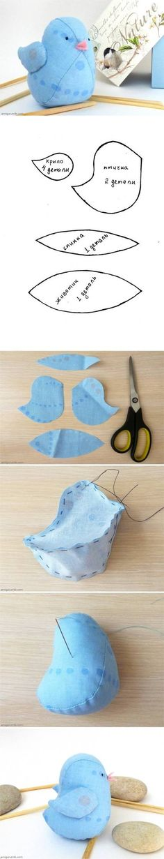 DIY Little Fabric Bird Tutorial