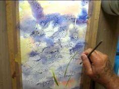 POPPIES Watercolor Video, Pastel Watercolor, Watercolour Tutorials, Watercolor Techniques, Art Techniques, Watercolour Painting, Teenage Drawings, Art Tutorials, Painting Tutorials