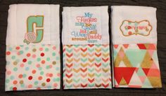 A personal favorite from my Etsy shop https://www.etsy.com/listing/244971384/burp-cloths-burp-rags-baby-shower-gift