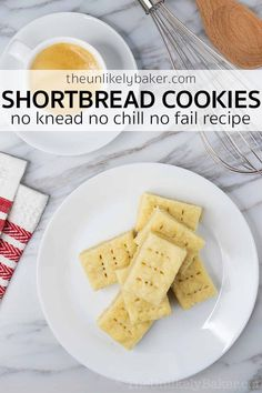 This shortbread cookie recipe is the easiest cookie recipe you'll ever make. No knead, no chill, no fail! And you only need pantry ingredients. Make them today, or save them for Christmas. They will become your new go-to cookie recipe. Soft and buttery, melts-in-your-mouth, so good! #easyrecipe #christmascookies #holidaybaking #cookietray Fun Baking Recipes, Easy Cookie Recipes, Sweets Recipes, Brunch Recipes, Bread Recipes, Best Homemade Cookie Recipe, Homemade Cookies, Iced Sugar Cookies, Holiday Cookies