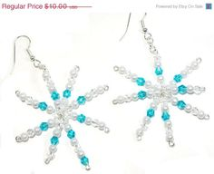 Snowflake Earrings with Swarovski Crystals 3 by BrankletsNBling, $8.00