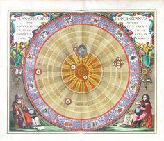 Celestial Harmonia Macrocosmica of Andreas Cellarius Plate 4, Planisphere, 1660