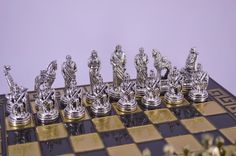 Trojan War Chess Set 33X33cm / Bronze chess от CraftsAndMetal