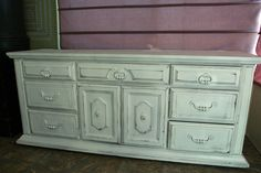 Vintage Chic Hand Painted / Distressed Dresser by FooFooLaLaChild, $575.00