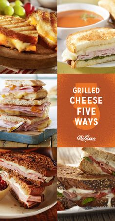Five favorite grilled cheese recipes. #grilledcheese