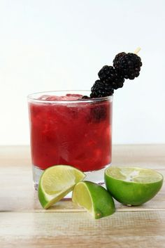Skinny Blackberry Margarita