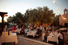 Reception outside at private estate in Greece. Photography Aneta Waszak