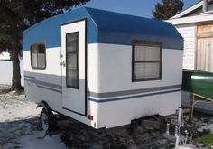 See how one man made a beautiful DIY tear drop camper in only two weeks. You've seen other tear drops before, but not like this hand-crafted one. Build A Camper, Tiny Camper, Small Campers, Camper Van, Utility Trailer Camper, Home Made Camper Trailer, Pickup Camper, Trailer Plans, Trailer Diy