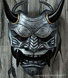 Samurai Assassin Demon Oni BB Gun Airsoft Mask Halloween  c152a3337357a
