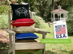 Outdoor Pillows Made in the U.S.A. --> Click the photo to shop now!