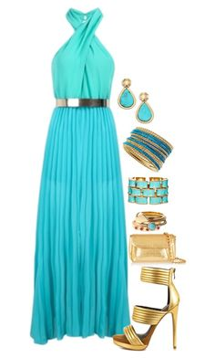 """""""Turquoise Queen"""" by secretsoftheslytherin ❤ liked on Polyvore featuring Diane Von Furstenberg, Nancy Gonzalez, Mia Limited Edition, Ciner, Jules Smith and Stephanie Kantis"""