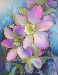 Art Floral, Floral Artwork, Glass Painting Patterns, Glass Painting Designs, Fabric Painting, Fabric Art, Painting & Drawing, Watercolor Flowers, Watercolor Paintings