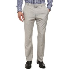 Perry Ellis End On End Flat Front Dress Pants (Alloy) Men's Dress... ($31) ❤ liked on Polyvore featuring men's fashion, men's clothing, men's pants, men's dress pants, grey, perry ellis mens dress pants, men's 5 pocket pants, mens elastic waistband pants, mens gray pants and mens gray dress pants