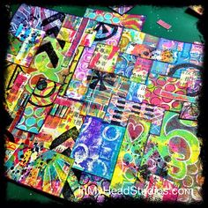 GORGEOUS Collage with Gelli prints by Vickie Porter! {be creative everyday} MARCH 8 :: gelli print collage | Flickr - Photo Sharing! By Vicki @ In My head Studios