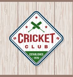 Cricket club patch or sticker concept for vector image on VectorStock