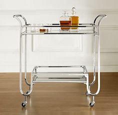 A Bar Cart... inspired by the need to be more grown and sexy wether you drink a little or a lot. (I have been searching craigslist for an antiquated version)  $649