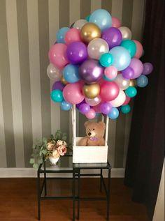 Blue Party Decorations, Birthday Balloon Decorations, Birthday Balloons, Baby Shower Decorations, Party Centerpieces, Balloon Gift, Balloon Garland, Air Balloon, Diy Garland