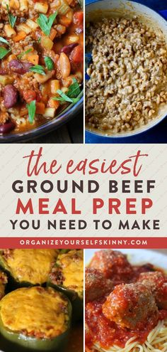 The Easiest Ground Beef Meal Prep You Need To Make | Meal Prep Dinner Recipes - Looking for a versatile protein option for your weekly meal planning that is also super budget-friendly? Here is a great, informational guide filled with freezing tips, ideas, and delicious recipes for ground beef meal prep! Organize Yourself Skinny | Healthy Dinner Recipes | Easy Meal Prep Tips | Healthy Eating Tips #mealprep #groundbeef #dinnerideas Easy Dinners For Kids, Easy Healthy Dinners, Healthy Dinner Recipes, Clean Dinner Recipes, Beef Recipes For Dinner, Meal Prep For Beginners, Dinner With Ground Beef, Ground Beef Recipes Easy, Easy Meal Prep