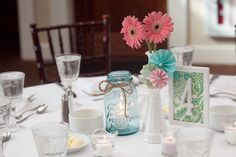 Quirky gerbera table decor